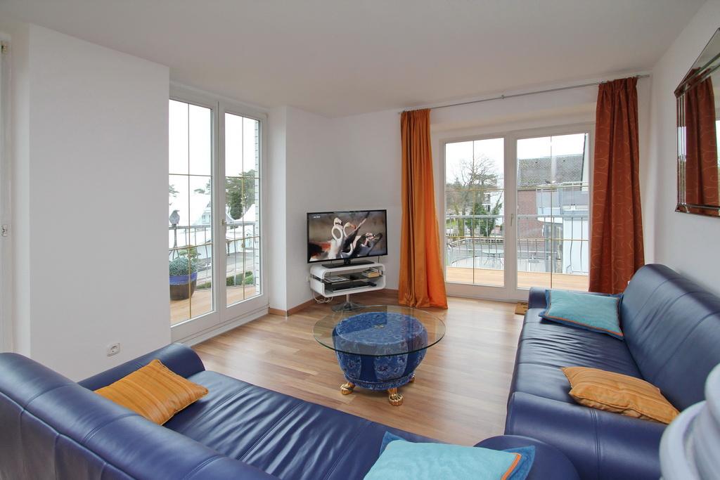 Wohnzimmer mit Strand Aussicht